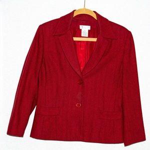 Wool blended blazer, size 8P